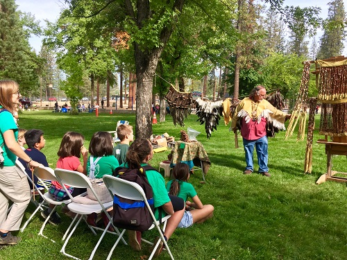 Tribal Celebration Children learning Indian Traditions