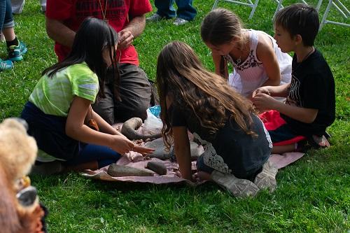 2018 Tribal Celebration Children learning about Acorns